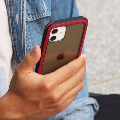 SOLiDE|維納斯 玩色 防摔手機保護殼 黑紅 iPhone全系列