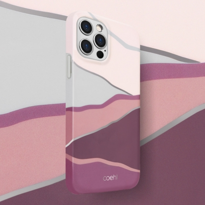 UNIQ|COEHL Ciel 獨特線條色塊設計全包覆防摔手機保護殼 iPhone 12/12 Pro/12 Pro Max