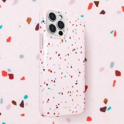 UNIQ|COEHL Terrazzo 水磨石設計全包覆防摔手機保護殼 iPhone 12/12 Pro/12 Pro Max