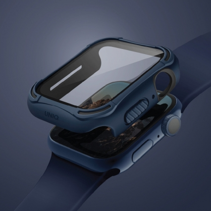 UNIQ|Torres Apple Watch 全包覆9H鋼化玻璃抗菌錶殼 40/44 mm