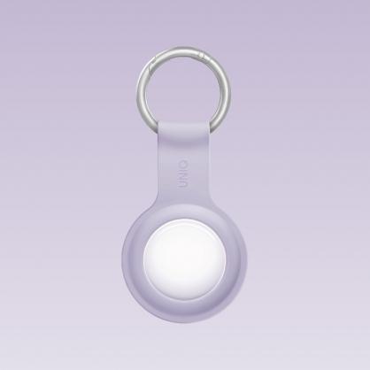UNIQ|AirTag Lino 液態矽膠掛扣防丟保護套(附雙面保護膜)