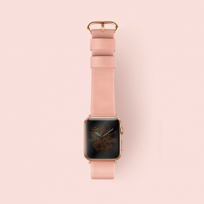 UNIQ|Mondain Apple watch 極簡薄型高級不銹鋼超柔軟真皮革錶帶 38/40 mm