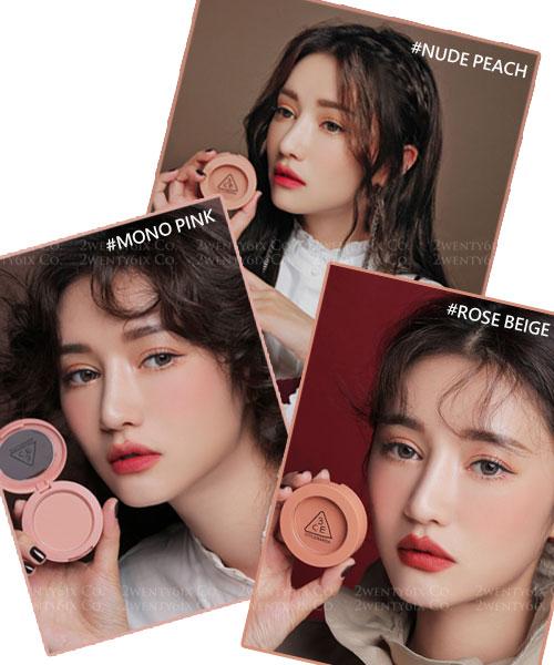 ★韓國 3CE ★ Mood Recipe 腮紅&修容粉 (Mono Pink/ Rose Beige/ Nude Peach)