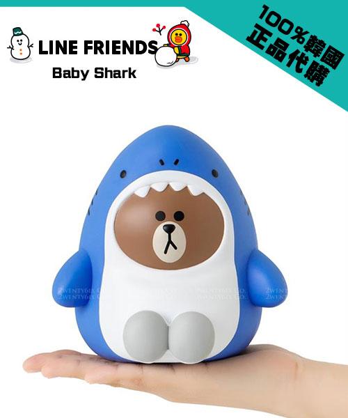 ★韓國LINE FRIENDS-Baby Shark★熊大鯊魚寶寶 超萌存錢筒