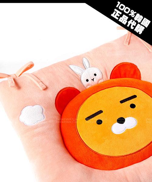 ★韓國Kakao Friends★ 秋冬新款 超萌溫暖 桃紅帽T萊恩小兔兔坐墊
