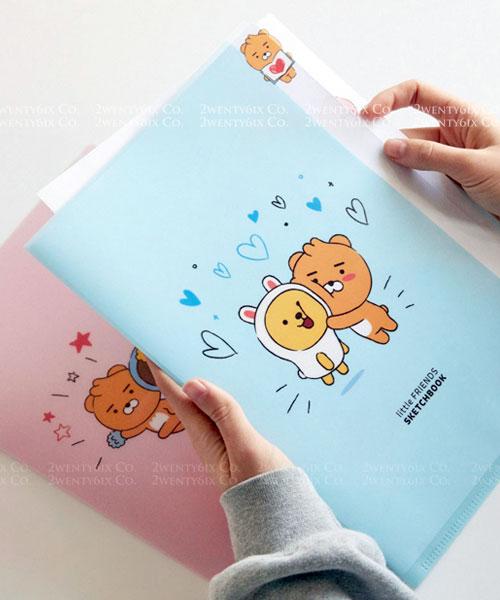 ★韓國Kakao Friends★超萌塗鴉A4-L型多夾層文件夾 (兩款)