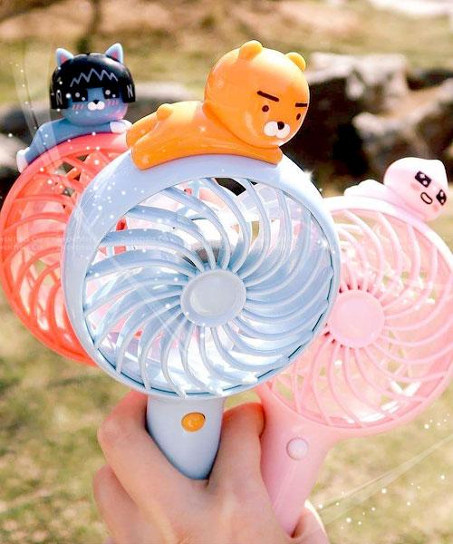 ★韓國Kakao Friends★手持三段式強力風扇(USB 充電)(Ryan/Neo/Apeach)