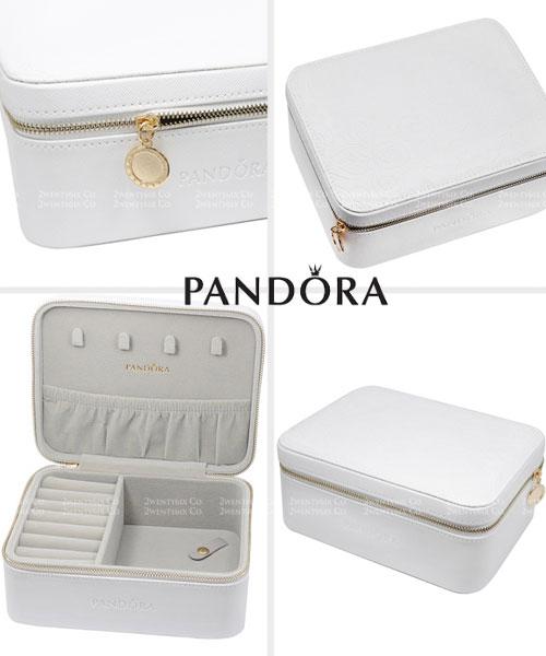 ★美國正品Pandora★[限量版] 潘朵拉迷人白色山茶花 拉鍊珠寶盒 (防氧化)