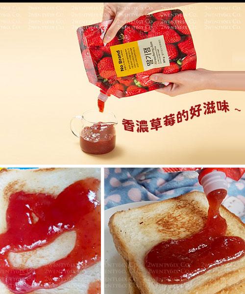 ★韓國No Brand★香濃美味 真材實料草莓醬 (超大包裝800g )