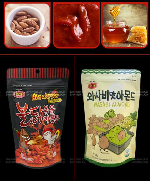 ★韓國MURGERBON★人氣零食杏仁豆-芥末&火雞辣味 (追劇嘴饞良伴)