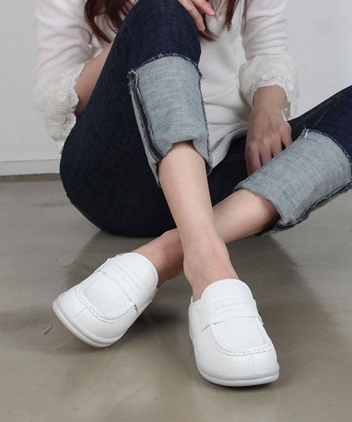 ★正韓★Berky 休閒機能防滑防震厚底半包鞋/工作鞋/護士鞋/辦公室鞋(兩色)