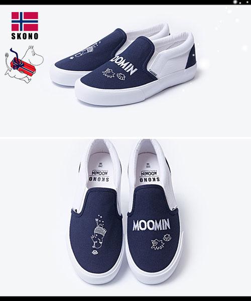 ★正韓SKONOX MOOMIN★嚕嚕米聯名款中性平底懶人鞋 (兩色)