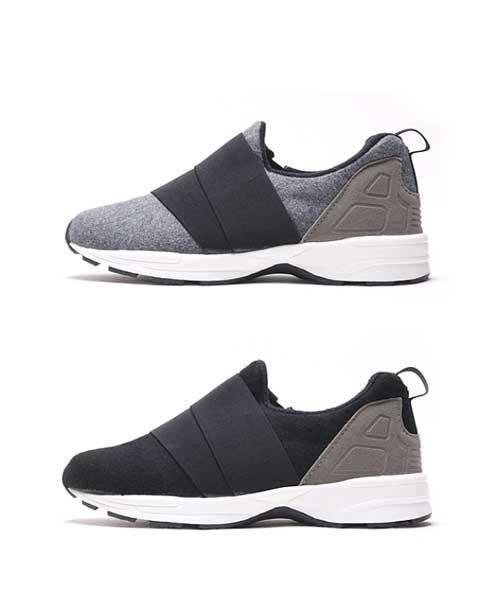 ★正韓★Natural Stride Sneakers 自然率性素面鬆緊帶休閒運動鞋