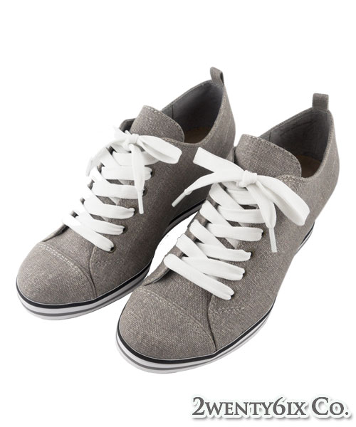 ★MIT★ Avril 個性水洗牛仔布低筒繫帶楔型鞋 (現貨#35~38)