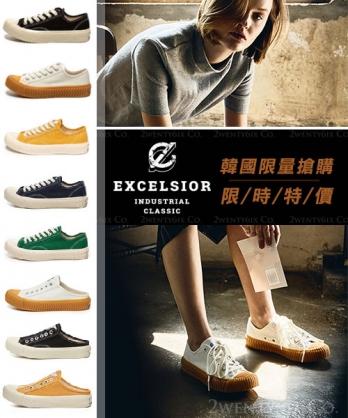 ★正韓代購 [EXCELSIOR BOLT 限時特價] ★ 帆布餅乾鞋/半拖鞋(8款)