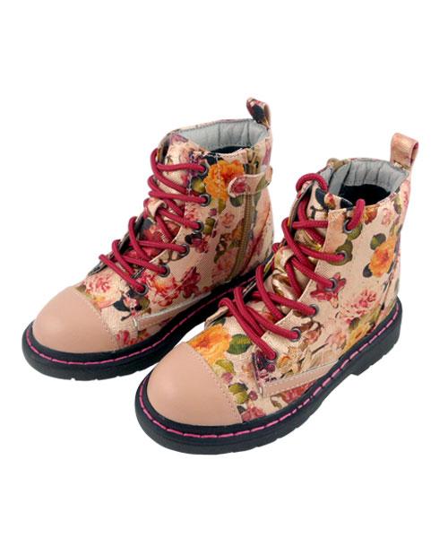 ★義大利進口Lelli Kelly★繽紛逸品☆粉金浪漫花園馬汀鞋 (現貨#26-35)