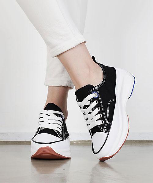 ★韓系★Sweet Bubble時尚率性柔軟彩色泡泡帆布4.5cm緩震厚底鞋(5色)