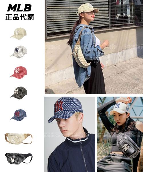 ★韓國正品MLB★NY Monogram純棉棒球帽(5色/可調整)&腰包(2色)
