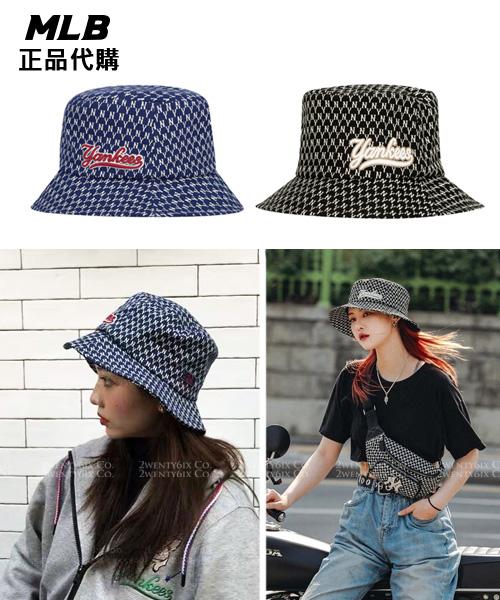 ★韓國正品MLB★NY Monogram花色漁夫帽 (2色)