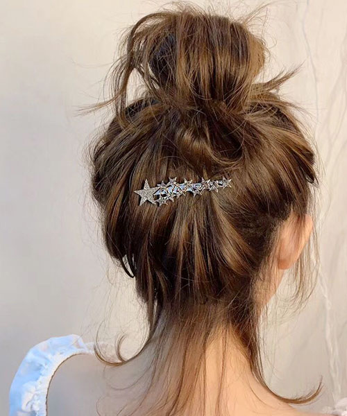 ★正韓設計師款★Shooting Stars 時尚閃耀 多層次水鑽星星閃鑽髮夾 (單個)