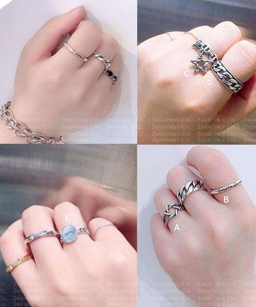 ★正韓★KacyK 時尚個性 S925純銀 質感戒指(5款)(活動戒圍)