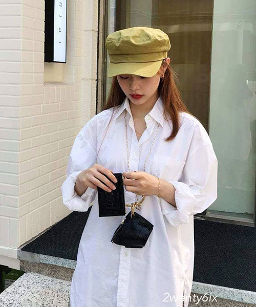 ★正韓★IG爆款FSCap質感素色立挺弧度帽沿軍帽 (5色)