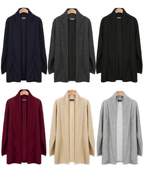 ★正韓★JEFF CG 時尚休閒棉感長版開衫外套 (男/女)(6色)(L/XL)