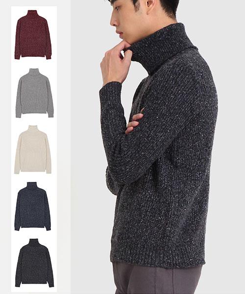 ★正韓★Rudolf CY休閒男士高領 雪花針織上衣 (5色)(L/XL)