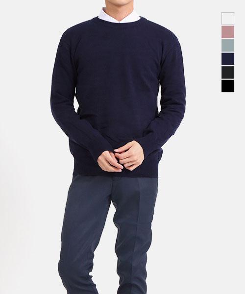 ★正韓★LRLOOK時尚質感 羊絨拼毛衣上衣(不含襯衫)(M-2XL)(六色)
