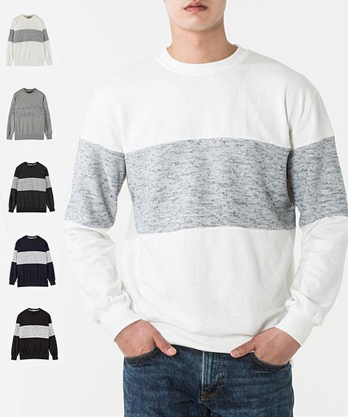 ★正韓★Grover 休閒個性簡約撞色高棉圓領長袖T恤 (5色)(L-XL)