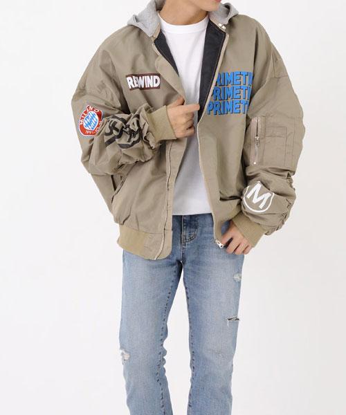 ★正韓★Milano CT 時尚個性獨特拼色印刷輕量拉鍊防風外套 (4色)