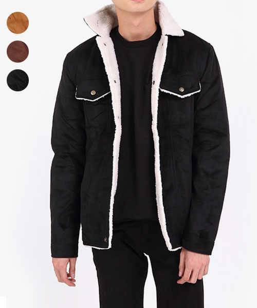 ★正韓★Glenn Wool 時尚休閒 質感羊毛口袋撞色翻領外套 (3色)