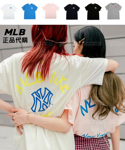 ★正韓MLB★NY YANKEES MLBlike LOGO PLAY街頭風短袖T恤 (6色)