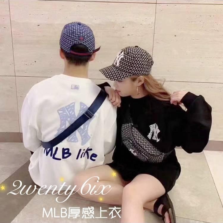 ★正韓MLB★LOGO PLAY 街頭風長袖衛衣(男女同款)(2色)