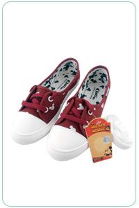 ★正韓Ollie★Mickey個性休閒色彩大米奇平底繫帶帆布鞋 (2色)(現貨 #230-#235)