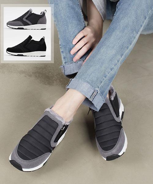 ★正韓 BOGI Fur ★ 休閒個性保暖米其林保暖內鋪絨3cm厚底懶人鞋(兩色)
