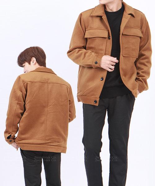 ★正韓 Windsor Wool ★ 個性保暖質感仿羊毛 翻領外套 (三色/L-XL)