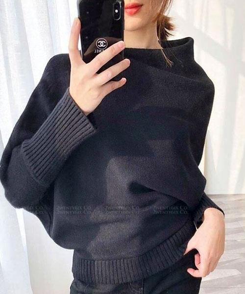 ★ 正韓 Wool Gentle ★ 氣質優雅 時尚斜高領 羊毛針織上衣 (四色)