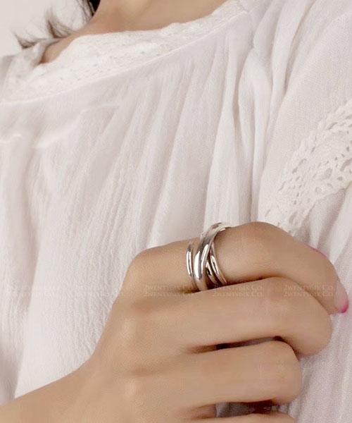 ★正韓 Darlene Rope ★ 925純銀 螺旋層次環繞 開口戒指