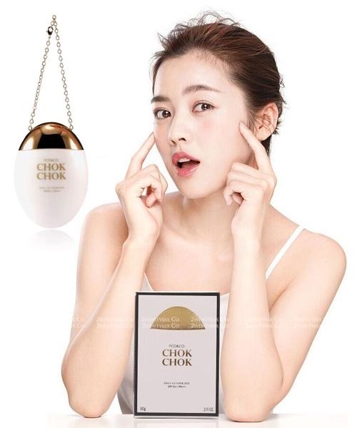 ★韓國 CHOKCHOK ★ 時尚網紅 鵝蛋防曬隔離霜 60g (SPF50+/PA+++)