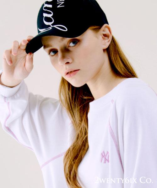 ★ 韓國正品 MLB NY Yankees★[限量/斷貨款] 洋基大LOGO印刷可調整棒球帽