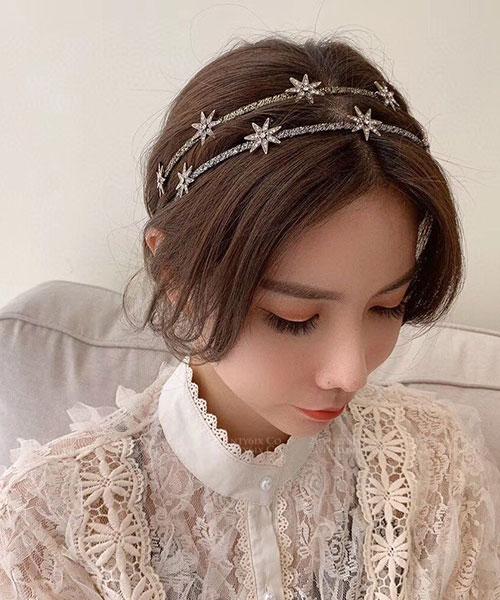 ★ 正韓 Viola Stars ★ 時尚浪漫 水鑽星星髮箍 (四款)