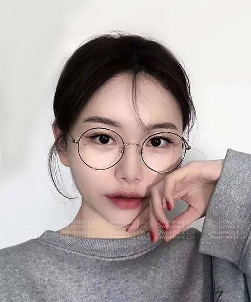 ★ 韓國 Dora SIN ★時尚圓框藍光眼鏡 (三色)&加購眼鏡皮套