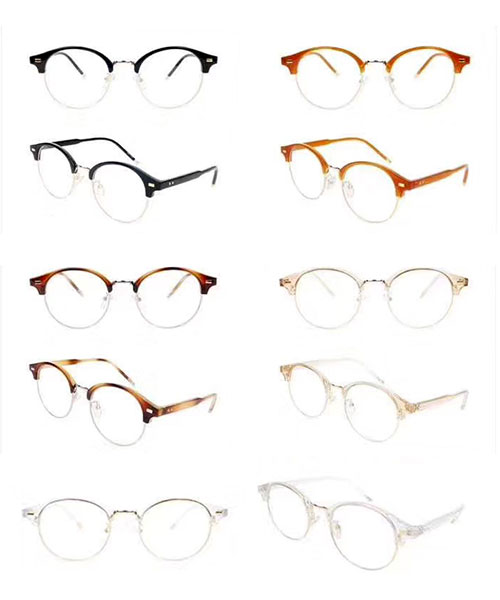 ★ 韓國 Meroy JC ★男女同款不規則鏡框平光眼鏡(五色) &加購眼鏡皮套