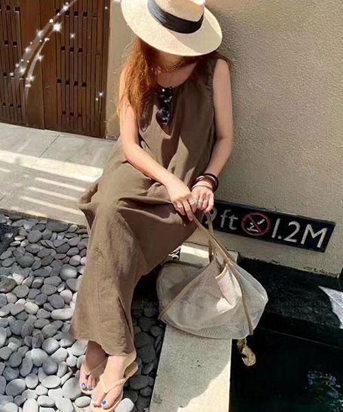 ★正韓 DORA LT ★ 休閒時尚 造型皺褶領口 寬鬆連衣裙 (三色)