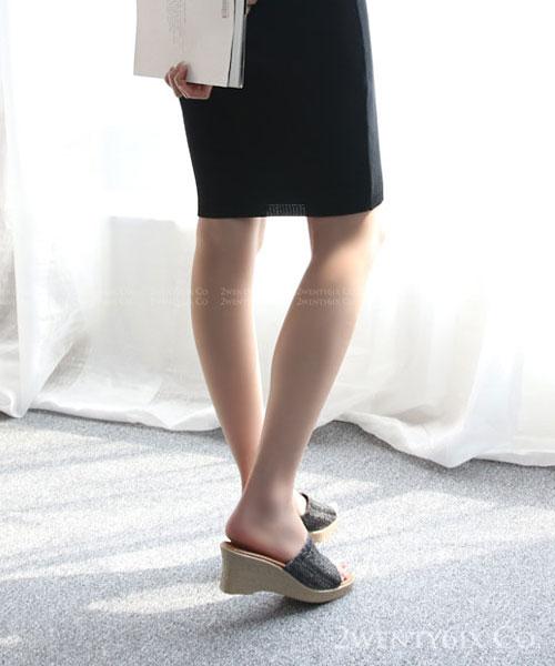 ★正韓 Coconut Slipper ★ 夏日南洋 編織 厚底露趾涼拖鞋 (兩色)