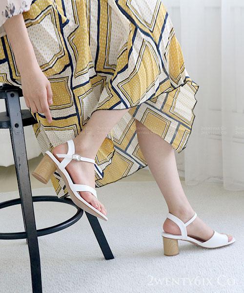 ★韓系 ADA Summer ★ 時尚簡約 質感皮革 套指套扣帶涼鞋 (三色)