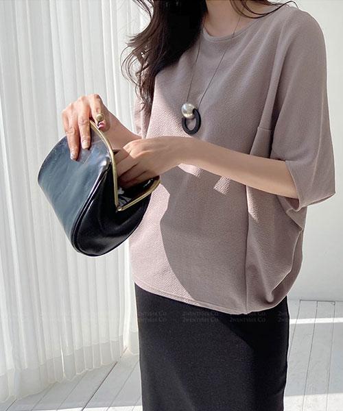 ★正韓 Florence GT ★ 時尚簡約舒適 彈性蝙蝠袖圓領上衣 (六色)