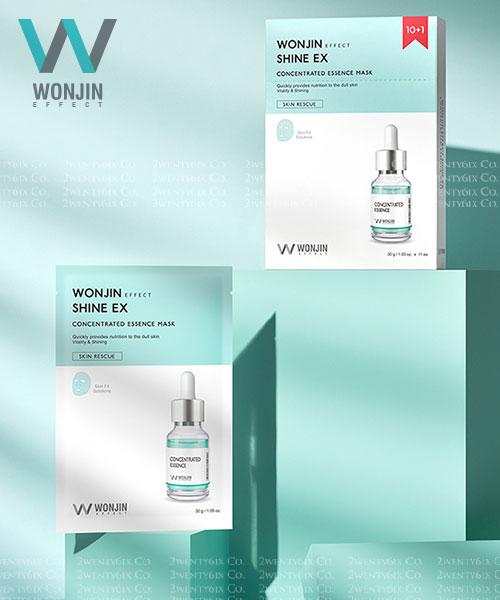 ★韓國 Wonjin Effect ★ Shine EX 水感透亮濃縮精華面膜 (10+1入)