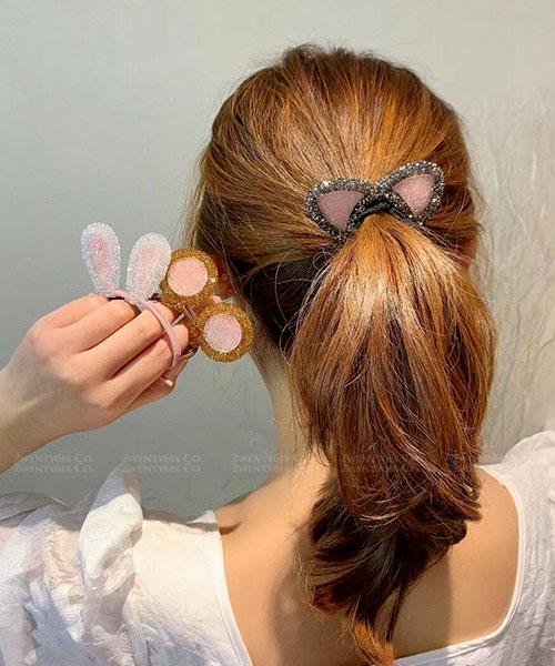 ★ 正韓 Cuty Cuty ★ 超萌俏皮可愛 透明水晶動物耳朵髮圈 (7款)
